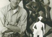 Ted Aub, aspiring sculptor, 1979