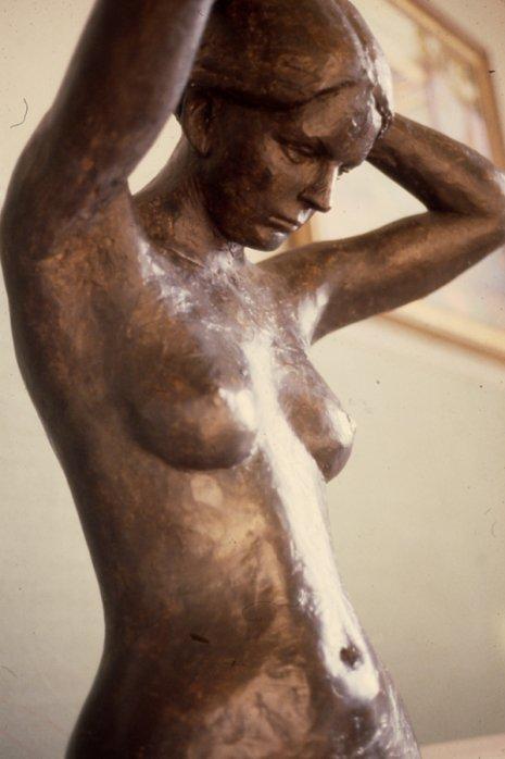 Liz, 1979, Painted Plaster