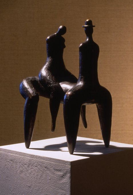 Centaur with Hat and Rider, 1987, Plaster
