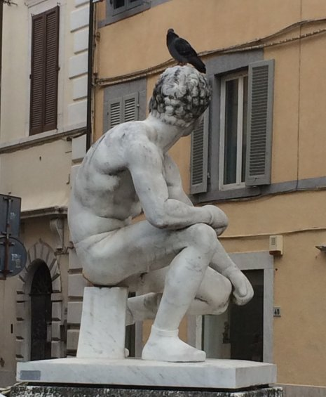 Statue of Boy with Bird